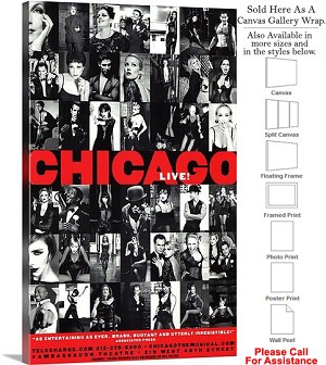 "Chicago 1975 Famous Broadway Musical Production-2 Canvas Wrap 18"" x 30"""