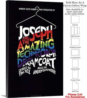 "Joseph and Technicolor Dreamcoat 1982 Broadway-2 Canvas Wrap 18"" x 30"""