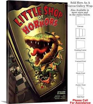 "Little Shop Of Horrors 2003 Broadway Musical Show Canvas Wrap 18"" x 30"""