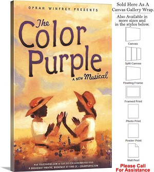 "The Color Purple 2005 Famous Broadway Musical Show Canvas Wrap 18"" x 30"""