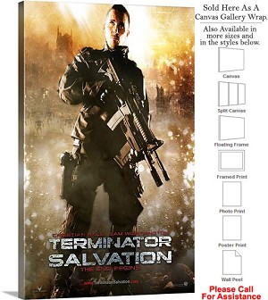 "Terminator Salvation Movie Theater 2009 Art-2 Canvas Wrap 18"" x 30"""