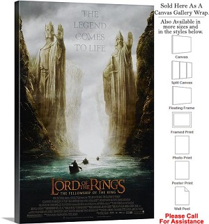 "The Lord of the Rings Fellowship Movie 2001 Art-2 Canvas Wrap 20"" x 30"""