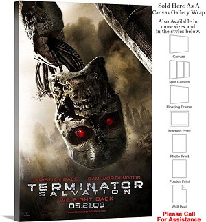 "Terminator Salvation Movie Theater 2009 Art-3 Canvas Wrap 20"" x 30"""