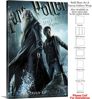 "Harry Potter and Half Blood Prince Movie Theater-6 Canvas Wrap 20"" x 30"""
