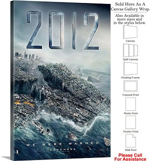 "2012 Famous Action Movie Theater 2009 Art Canvas Wrap 20"" x 30"""