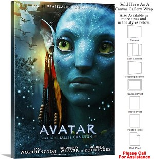 "Avatar Famous Action Movie Theater 2009 Art Canvas Wrap 20"" x 30"""