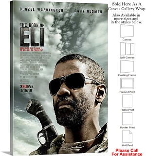 "The Book of Eli Famous Movie Theater 2010 Art Canvas Wrap 20"" x 30"""