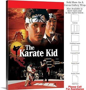 "The Karate Kid Famous Action Movie Theater Art Canvas Wrap 20"" x 30"""