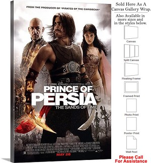 "Prince of Persia Famous Movie Theater 2010 Art Canvas Wrap 20"" x 30"""
