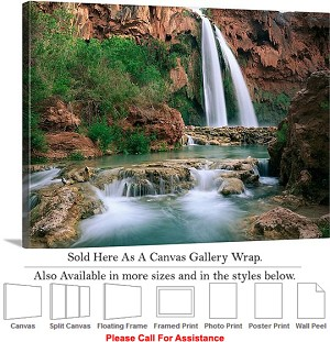 "Grand Canyon National Park in Arizona Landscape-47 Canvas Wrap 30"" x 22"""