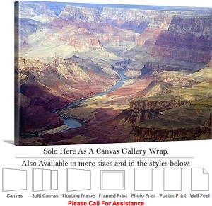 "Grand Canyon National Park in Arizona Landscape-4 Canvas Wrap 30"" x 20"""