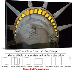"Statue of Liberty an American Landmark New York-28 Canvas Wrap 30"" x 20"""