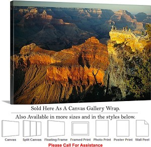 "Grand Canyon National Park in Arizona Landscape-70 Canvas Wrap 30"" x 20"""