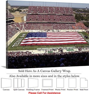 "Texas A&M University American Flag at Kyle Field Canvas Wrap 30"" x 23"""