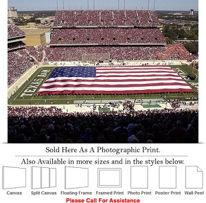 "Texas A&M University American Flag at Kyle Field Photo Print 24"" x 18"""