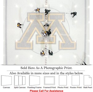 "University of Minnesota Hockey at Mariucci Rink Photo Print 24"" x 18"""