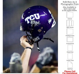 "Texas Christian University College Football Helmet Photo Print 18"" x 24"""