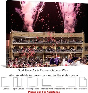 "Texas Christian University Amon G Carter Stadium-2 Canvas Wrap 30"" x 23"""
