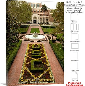 "University of Southern California at Alumni Park Canvas Wrap 23"" x 30"""