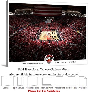 "University of Louisville Freedom Hall Basketball-2 Canvas Wrap 30"" x 23"""
