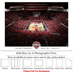 "University of Louisville Freedom Hall Basketball-2 Photo Print 24"" x 18"""