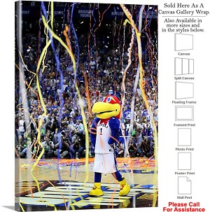 "University of Kansas Jayhawks 2008 NCAA Champs Canvas Wrap 23"" x 30"""