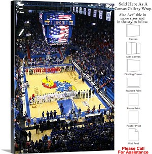 "University of Kansas National Anthem Field House Canvas Wrap 23"" x 30"""