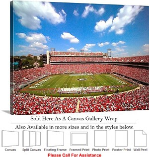 "University of Georgia Sanford Stadium Football Canvas Wrap 30"" x 23"""