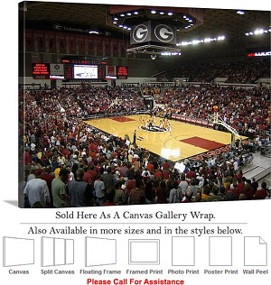 "University of Georgia Stegeman Coliseum Sports Canvas Wrap 30"" x 23"""