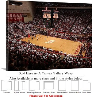 "University of Indiana Assembly Hall Basketball Canvas Wrap 30"" x 23"""
