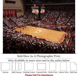 "University of Indiana Assembly Hall Basketball Photo Print 24"" x 18"""