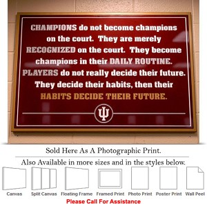 "University of Indiana Inspirational Hoosier Sign Photo Print 24"" x 18"""