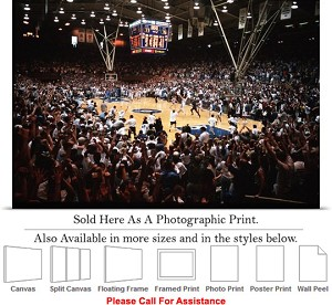 "Duke University Fans Storm Cameron Indoor Stadium Photo Print 24"" x 16"""