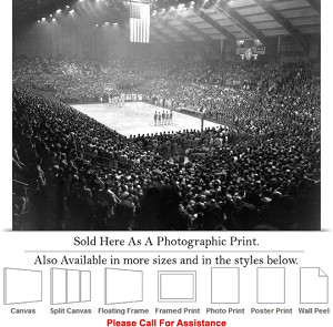 "Kansas State University Game in Ahearn Field House Photo Print 24"" x 18"""