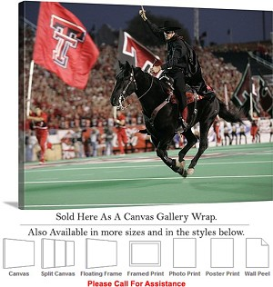 "Texas Tech University Tradition The Masked Rider-2 Canvas Wrap 30"" x 23"""