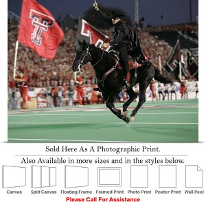 "Texas Tech University Tradition The Masked Rider-2 Photo Print 24"" x 18"""