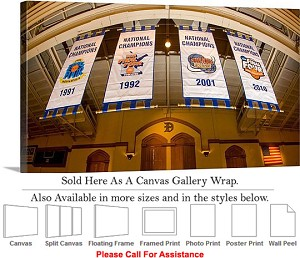 "Duke University College Basketball NCAA Champions Canvas Wrap 30"" x 17"""