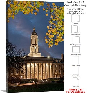 "Penn State University College Campus at Old Main Canvas Wrap 22"" x 30"""