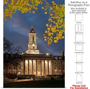 "Penn State University College Campus at Old Main Photo Print 17"" x 24"""