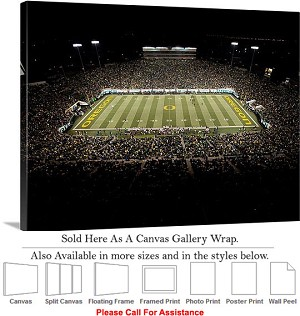 "University of Oregon Football Sport Autzen Stadium Canvas Wrap 30"" x 23"""
