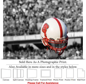 "North Carolina State University Football Helmet Photo Print 24"" x 18"""