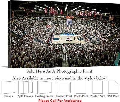 "University of Arizona College at the McKale Center Photo Print 24"" x 14"""