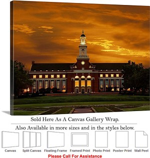 "Oklahoma State University Campus Edmon Low Library Canvas Wrap 30"" x 23"""