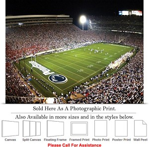 "Penn State University Football Game Beaver Stadium Photo Print 24"" x 18"""
