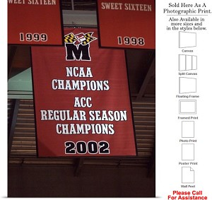 "University of Maryland Basketball NCAA Champions Photo Print 18"" x 24"""