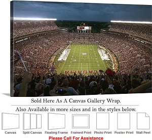 "University of Alabama Bryant Denny Stadium Sports Canvas Wrap 30"" x 18"""