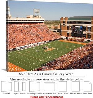 "Oklahoma State University Boone Pickens Stadium-3 Canvas Wrap 30"" x 23"""