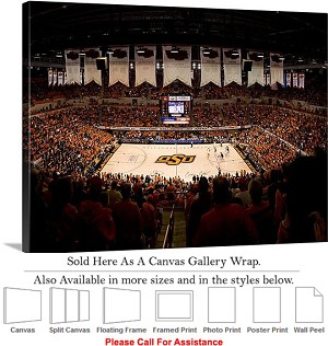 "Oklahoma State University at Gallagher Iba Arena-2 Canvas Wrap 30"" x 23"""