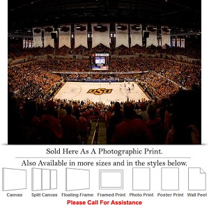 "Oklahoma State University at Gallagher Iba Arena-2 Photo Print 24"" x 18"""