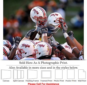 "University of Maryland Football Team Helmet Raise Photo Print 24"" x 18"""